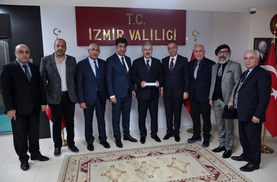 Erzurumlu İş Adamları ve Sanayicileri Derneği (ERİSAD) Yönetim Kurulu olarak, İzmir Valimiz Sayın Erol AYYILDIZ'ı makamında ziyaret etti