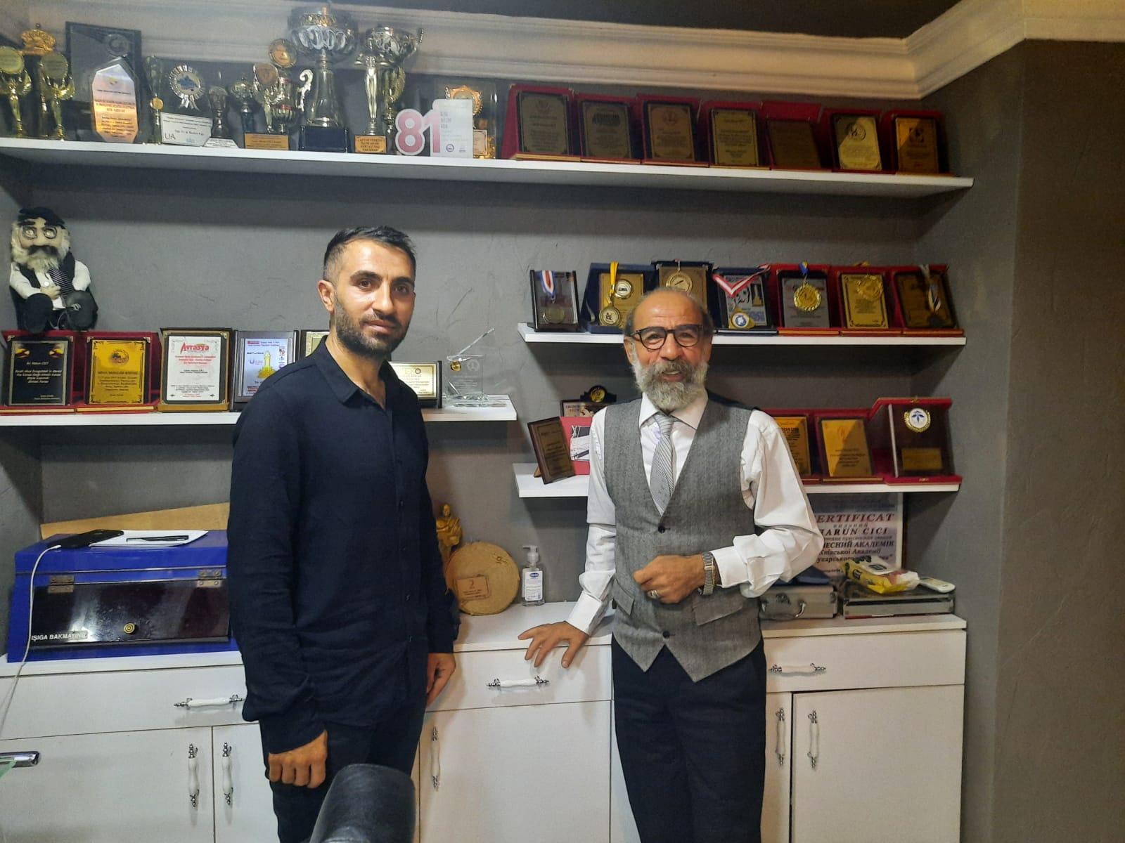 Erzurum Tortumlular Derneği Başkanı Harun Cici'yi Ziyaret Etti